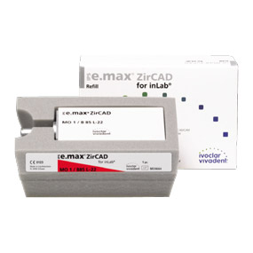 IPS e.max ZirCAD for inLab B85 L-22 / MO цвет 1, блок 1x1