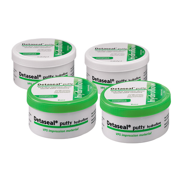 картинка Detaseal hydroflow putty слепочная масса, Value Kit, набор 4х250 мл